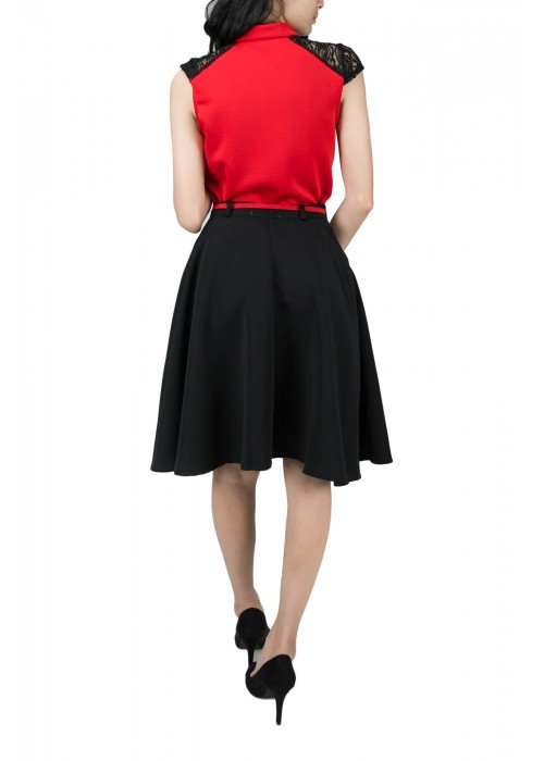 EUPHRASIA TOP-RED-SIZE S ONLY